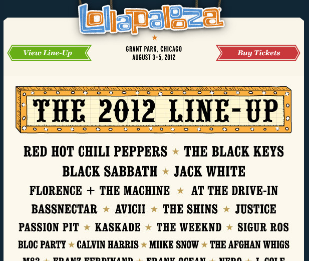 lollapalooza 2012 lineup announced ice cream man. Black Bedroom Furniture Sets. Home Design Ideas